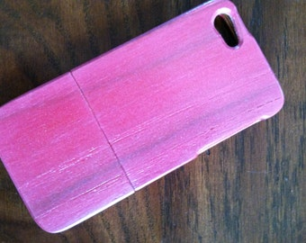 SALE iPhone 5 pink and pearl wood phone case hand-finished