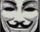 Vendetta Mask Brick Stitch Bracelet Pattern