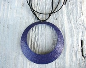 Large Purple Choker Necklace, Statement Necklace, Eco-Friendly, Upcycled, Circle Necklace, Geometric Jewelry, Jewel Tone Necklace, Oversized