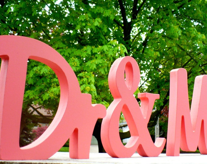 Dr and Mr  OR Dr and Mrs Wooden Wedding Sign