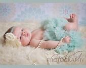 Aqua petti skirt - tutu skirt - newborn tutu - infant petti skirt - newborn petti skirt