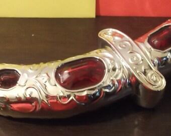 Vintage Avon Gold Jeweled Dagger/ Sword Bottle Collectible Windjammer Aftershave