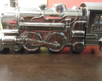 Vintage Avon Silver Train1485  Bottle Collectible Deep Woods Aftershave