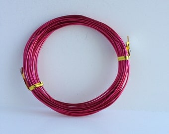14 Gauge (1.5mm) Hot Pink Tone Aluminum Wire
