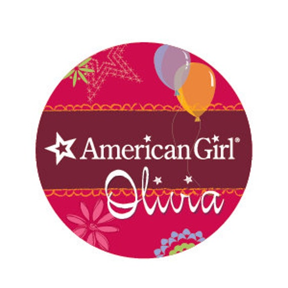 Items similar to American Girl Birthday party favor name ...