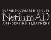 Nerium Turning Cougars into Cubs Clear Rhinestone Hot Fix Transfer Logo