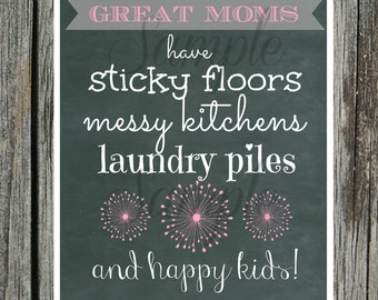 INSTANT Download GREAT MOMS Subway Art - Wall Art Print 8 X 10 Printable Download Mothers Day