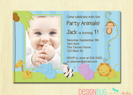 first birthday boy invitation baby jungle safari party, 1 year old baby birthday invitation card, 1 year old baby boy birthday invitation card, 1 year old baby invitation card
