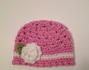 Crochet Baby Hat, Baby Beanie, 0 to 3 Months