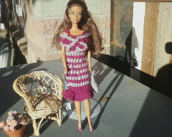 Crochet Barbie Dress and Mini Wrap
