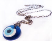 EVIL EYE Necklace, HANDMADE Protection Necklace, Lucky Necklace, Talisman Necklace, Nazar Evil Eye Necklace, Blue Charm Necklace, Lucky Gift