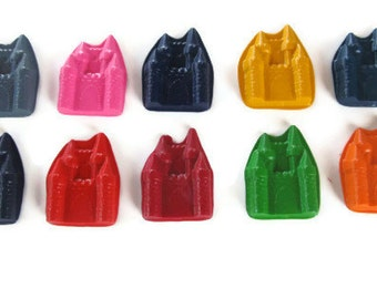 Castle crayons set of 20 - party supplies - party favor