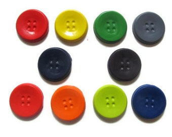 Button Crayons set of 10 - party favors