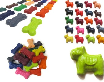 Dog Bone and Dog Crayons set of 20 - party favors