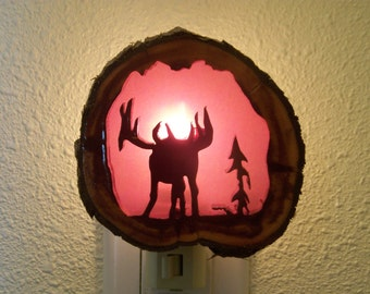 Rutting Bull Elk nightlight