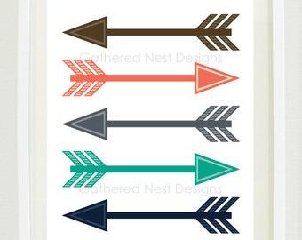 Arrow Tribal Art Print 8 Quot X10 Quot 8x10