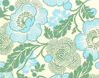 Fresh Poppies Green - One Yard - Amy Butler Fabric - Midwest Modern Collection