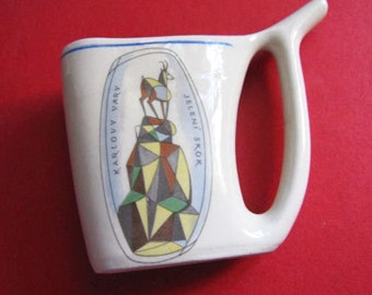 Vintage Jeleni Skok Sipping Cup from Czech Republic- estate find!