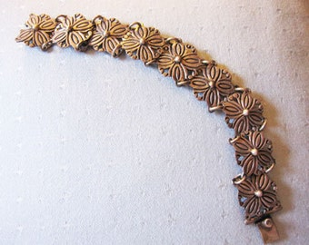 Rancho Alegre Sterling Silver Floral bracelet marked Taxco from the 60's-70 or 80's Estate Find