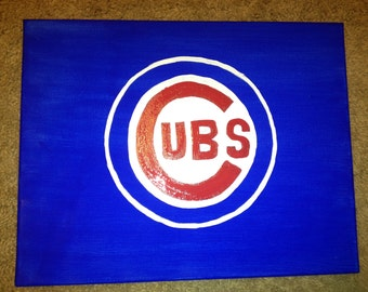 16x20 Chicago Cubs Painting