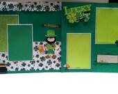 Premade St. Patrick's Day Scrapbook Layouts - 2 12 x 12