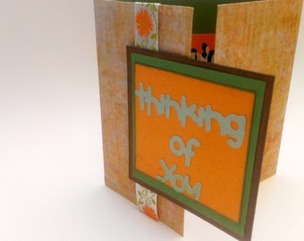 Handmade Unique Fold Father's Day Card, Thinking of You, Happy Father's Day, Special Gift