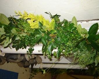 10' Wedding garland 3 item mixed fresh greenary