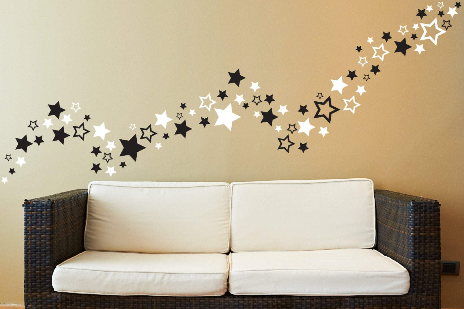 80 star wall decals stars wall decals decals star - Stars for walls decorating ...