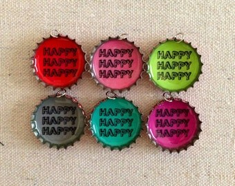 Duck Dynasty Happy Happy Happy For Charity Bottle Cap Upcycle Necklace