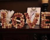 Wine Cork Letters - Love