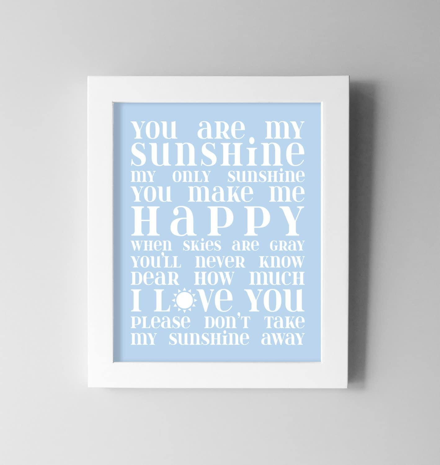 My Sunshine Baby Wall Art Baby Boy Nursery Wall Art