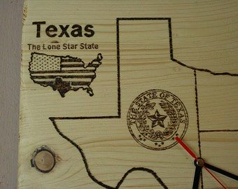 Wall Clock. The State Of Texas.