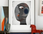 Is Anybody Here? lllustration art print signed by the artist. A2 poster giclée print