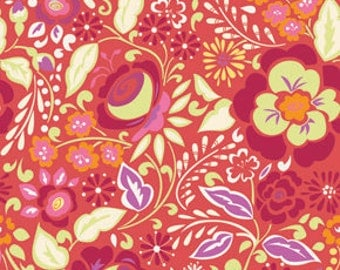 Fabric Taza 'Caroline' Red by Dena Designs for Free Spirit
