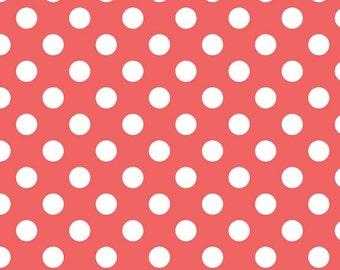 Fabric 'Medium Dots' Rouge Riley Blake Cotton Basics 1 yard