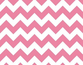 Chevron Stripe Pink Riley Blake Fabric 1 yard