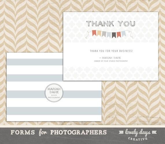 Photographer Thank You Card