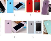 Bling Shinning Full Body Cover Wrap Skin Sticker For iPhone 4, 4S 8 Colours Available