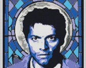 Castiel Stained Glass Window Cross Stitch Chart Misha Collins 14-count