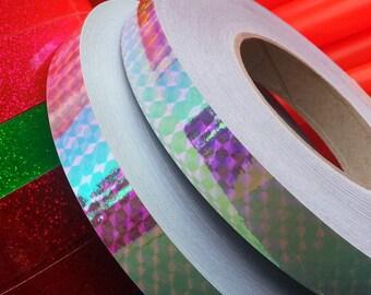 """3/4"""" Rainbow Holographic Hula Hoop Tape"""