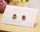 Tulip Earrings - beautiful handmade polymer clay jewellery by Clay & Clasp