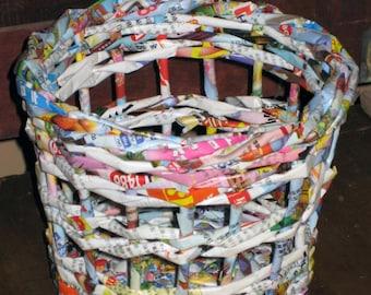 Paper woven oriental basket
