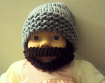 Baby Beard Hat Baby Beanie Baby Hat Knit Hat Face Mask 0-18 months