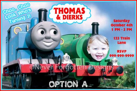 items similar to 5x7 custom thomas the train birthday party invitation digital file on etsy