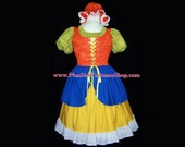 MOTHER GOOSE or Little Miss Muffet Plus Size Halloween Costume Adult Womens Size 1X 2X 3X 4X 5X - 4 pcs New