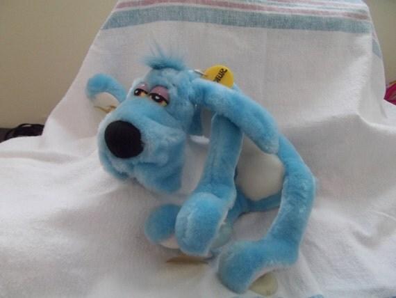 1988 dakin foofur blue dog stuffed plush animal excellent. Black Bedroom Furniture Sets. Home Design Ideas