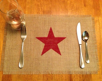 """Burlap Placemats 12"""" x 18"""" - set of 4, 6, or 8 - Holiday decorating Home decor Wedding gift Housewarming gift Christmas gift"""