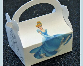 princess cinderella party favor box, princess cinderella  and the prince birthday favor box, cinderella birthday favor