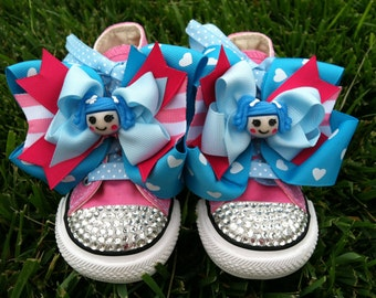 LALALOOPSY SHOES - LaLaLoopsy Birthday - LaLaLoopsy Party - Mittens Fluff n Stuff - Sparkle Toes - Pink Converse - Infant/Toddler/Youth