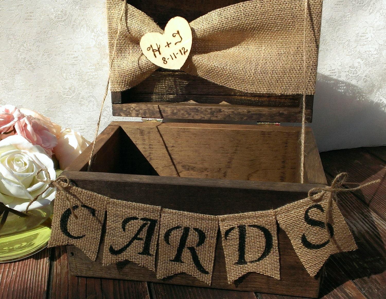 Gift Card Boxes Wedding: Burlap Banner Burlap Cards Banner Country Wedding Card Box